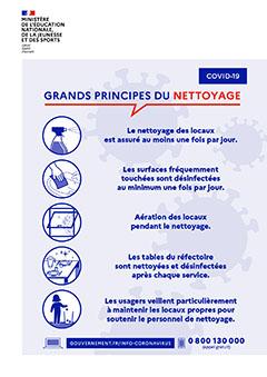 Affiche rentrée 2020 - grands principes du nettoyage