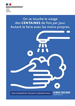 Affiche rentrée 2020 - lavage des mains