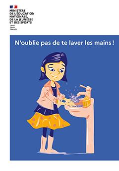 Affiche rentrée 2020 - N'oublie pas de te laver les mains !