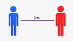 Visuel - distance sociale d'un mètre
