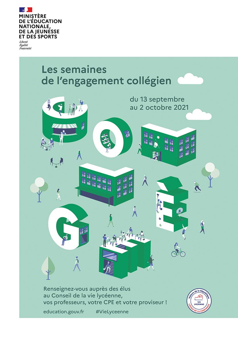 Affiche - Semaine engagement collégien 2021