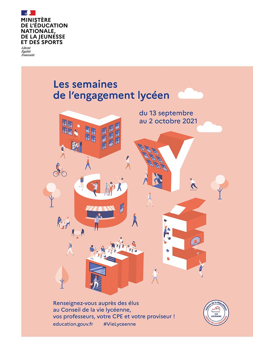 Affiche - Semaine engagement lycéen 2021