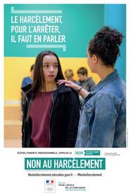 """Non au harcèlement - campagne 2017 : """"Le harcèlement, pour l ..."""